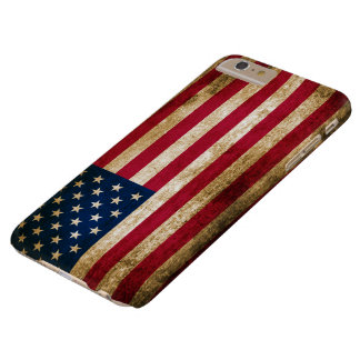 Vintage USA Americana Flag Barely There iPhone 6 Plus Case