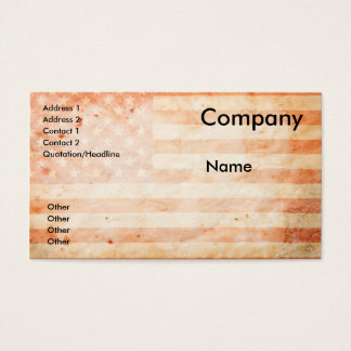 Vintage USA flag Business Card