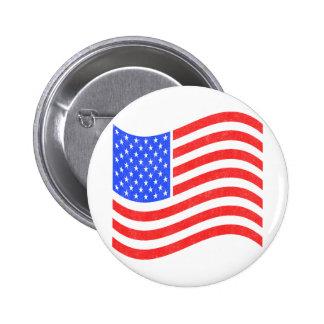 Vintage USA Flag 2 Inch Round Button