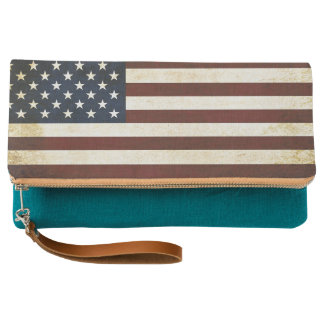 Vintage USA Flag Clutch