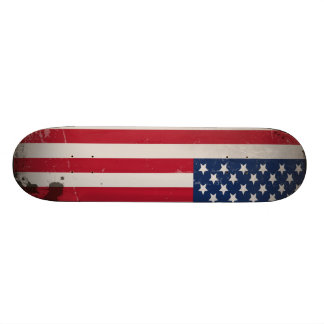 Vintage USA Flag Custom Skate Board
