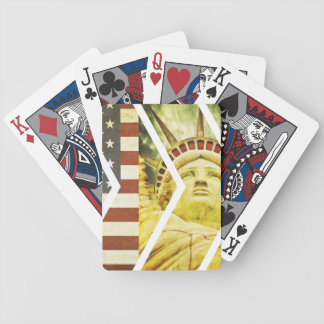 Vintage USA Flag Statue of Liberty Chevrons Bicycle Playing Cards