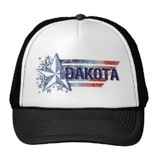 Vintage USA Flag with Star – North Dakota Mesh Hats