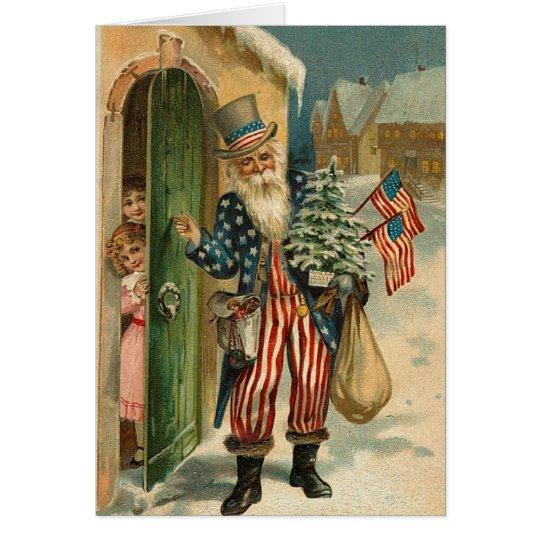 Vintage USA Santa Card