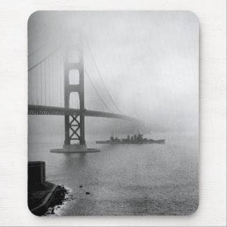 Vintage USS San Francisco Golden Gate Bridge Mouse Pad