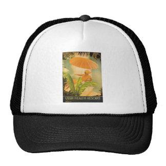 Vintage USSR Health Resort Mesh Hats