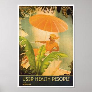 Vintage USSR Health Resort Poster