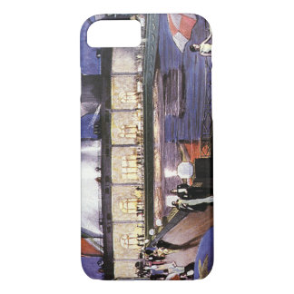 Vintage Vacation Travel, Cruise Ship on Pool Deck iPhone 7 Case