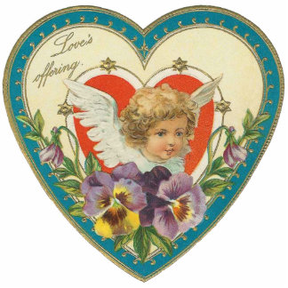 Vintage Valentine Broach Pin Photo Sculpture Button