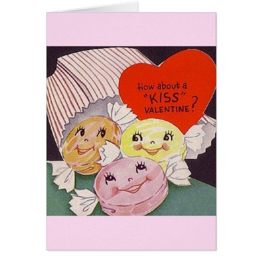 Vintage Valentine Candy Valentine's Day Card