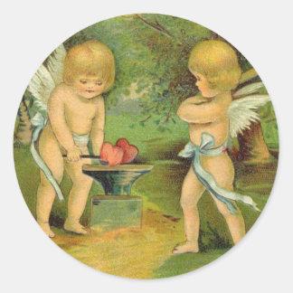 Vintage Valentine Cherubs 2 Sticker
