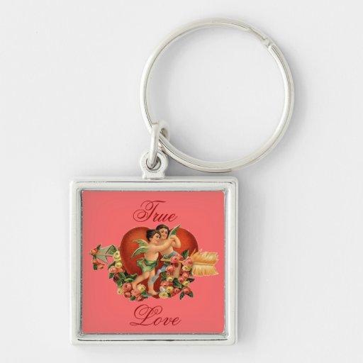 Vintage Valentine Cherubs Key Chains