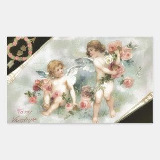 Vintage Valentine Cherubs Sticker