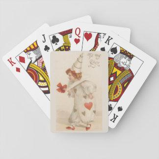Vintage Valentine Clown Poker Deck