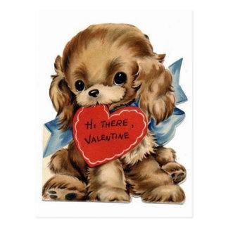 Vintage Valentine Cocker Spaniel Postcard