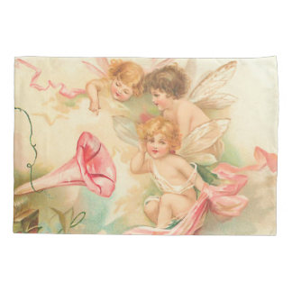 Vintage valentine cupid angel 1 pillowcase
