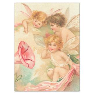 Vintage valentine cupid angel 1 tissue paper