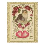 Vintage Valentine Ephemera and Altered Art Postcard