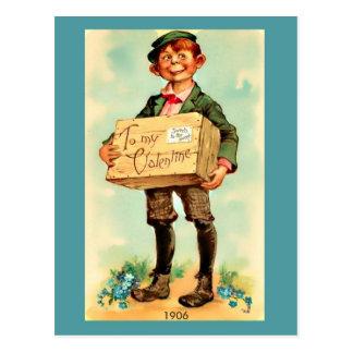 Vintage Valentine for Her, 1906 Vintage Boy Image Postcard
