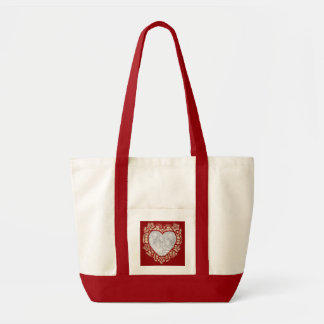 Vintage Valentine Personalized Photo Tote Bag