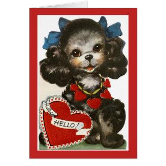 Vintage Valentine Puppy Card