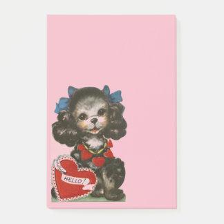 Vintage Valentine Puppy Post-it Notes