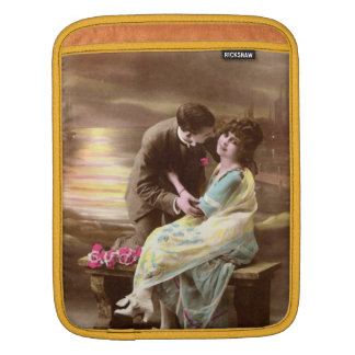 Vintage Valentine Sunset iPad Sleeve