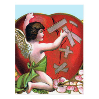 Vintage Valentine's Day Angel Postcard
