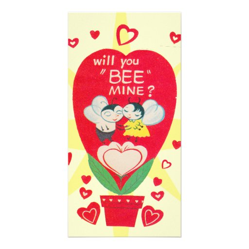 Vintage Valentines Day Card Photo Greeting Card