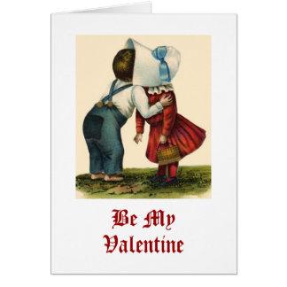Vintage Valentine's Day Kissing Card