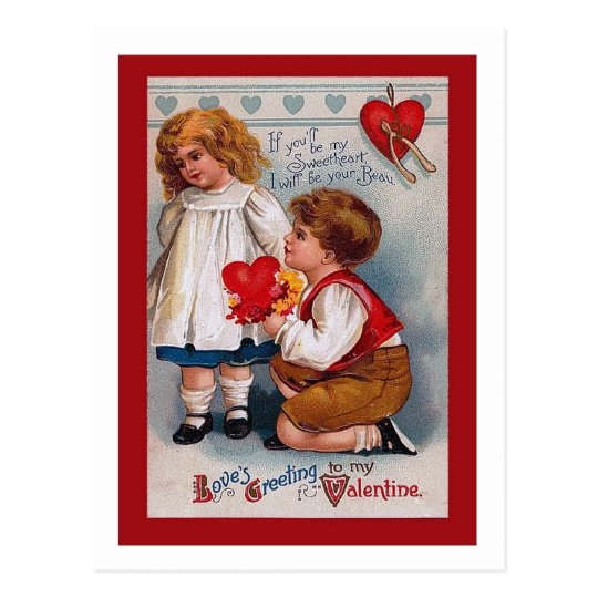 Vintage Valentine's Day Postcard , old-fashioned