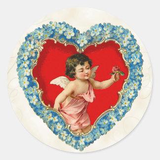Vintage Valentine's Day Stickers Cherub