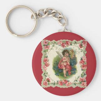 Vintage Valentine's Day, Victorian Angel on Phone Keychains