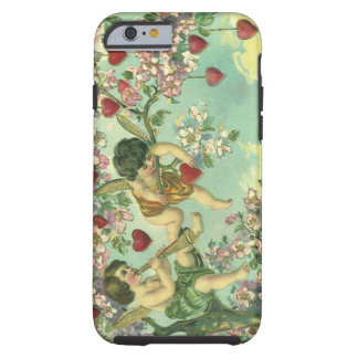 Vintage Valentines Day Victorian Cupids Heart Tree Tough iPhone 6 Case