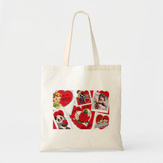 Vintage Valentines Tote for Teacher Budget Tote Bag