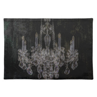 Vintage vampire gothic distressed chandelier placemat