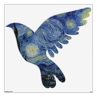 Vintage Van Gogh The Starry Night Wall Decal