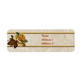 Vintage Vanilla Rose Label