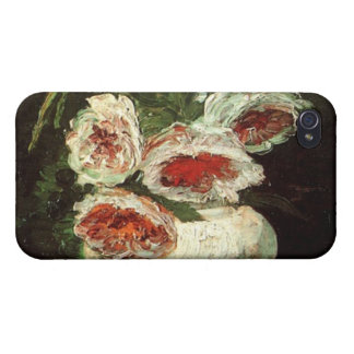 Vintage Vase with Peonies by Vincent van Gogh. Case For iPhone 4