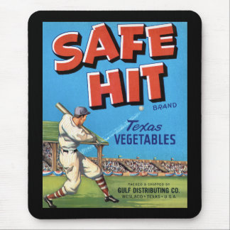 Vintage Vegetable Advertisement Safe Hit Mouse Pad