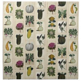 Vintage Vegetable Botanical Prints napkins