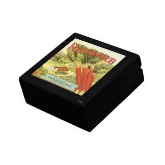 Vintage Vegetable Can Label Art, Rhubarb Farm Gift Box
