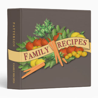 Vintage Vegetable Family Recipe Binder