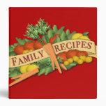 Vintage Vegetable Family Recipe Binder