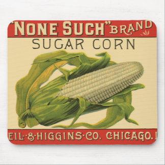 Vintage Vegetable Label Art, None Such Sugar Corn Mouse Pad