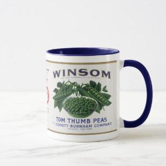 Vintage Vegetable Label - Peas Mug