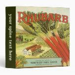 Vintage Vegetable Label, Rhubarb and a Farm Binders