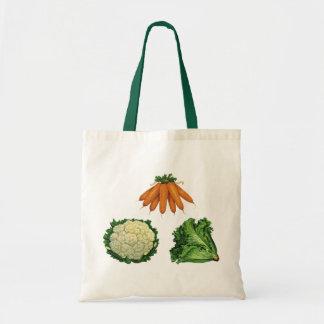 Vintage Vegetables; Carrots, Cauliflower, Lettuce