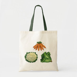 Vintage Vegetables; Carrots, Cauliflower, Lettuce Tote Bag