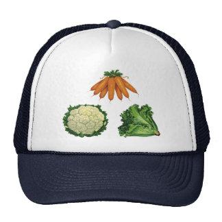 Vintage Vegetables; Carrots, Cauliflower, Lettuce Trucker Hat